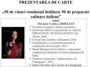 Prezentare_carte_Marinela_ARDELEAN_50vinuriromanesti