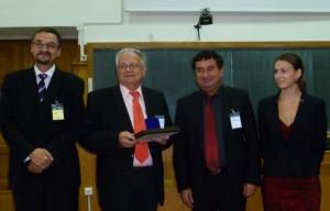 Dr Klaus Schaller receiving SHST diploma and medal b