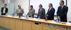 Dr Kourosh Vahdati presenting his report for PhD candidate Rodica Gotea