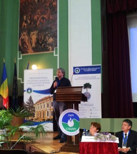 Paul Fraser presentation,respectivelly Carmen Socaciu and Maurizio Lambardi, as chairmen, UASVM Cluj, Sept 27, 2013