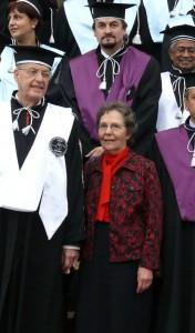 Professor Jules Janick, Ms Shirley Janick, Dean Radu Sestras