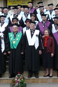 Professor Jules Janick, Ms Shirley Janick, Dean Radu Sestras 2